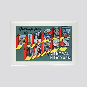Finger Lakes New York Rectangle Magnet